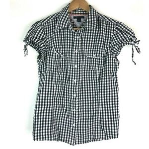 Tommy Hilfiger M Button Down Top Gingham Checkered